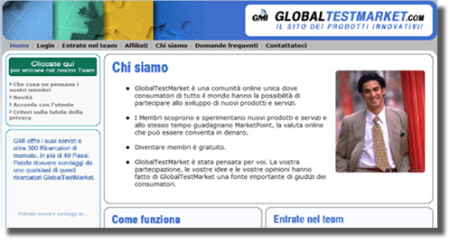 guadagnare con global test market